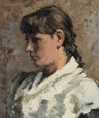 Wilhelmina Keuchenius, Vrouw met vlecht, ca. 1890.